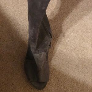 Nine West Shoes - Grey suede open-toe boots